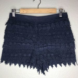 Express Women's Shorts Navy Lace Size Small